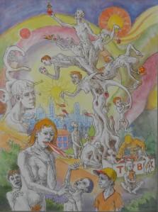Scène mythologique n on-identifiée, ou L'Arbre à Jouet 80 x 60 cm