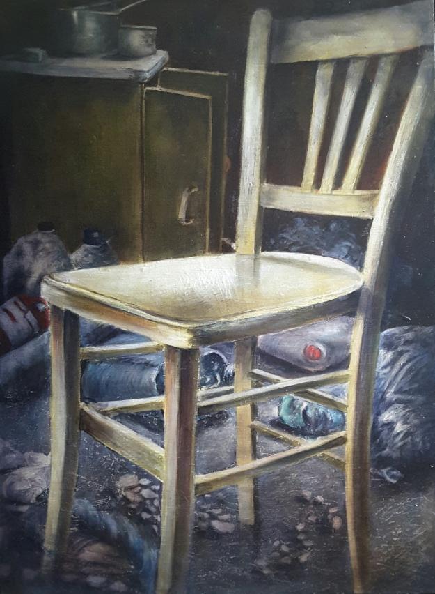 Chaise oubliée 72cm par 53 cm