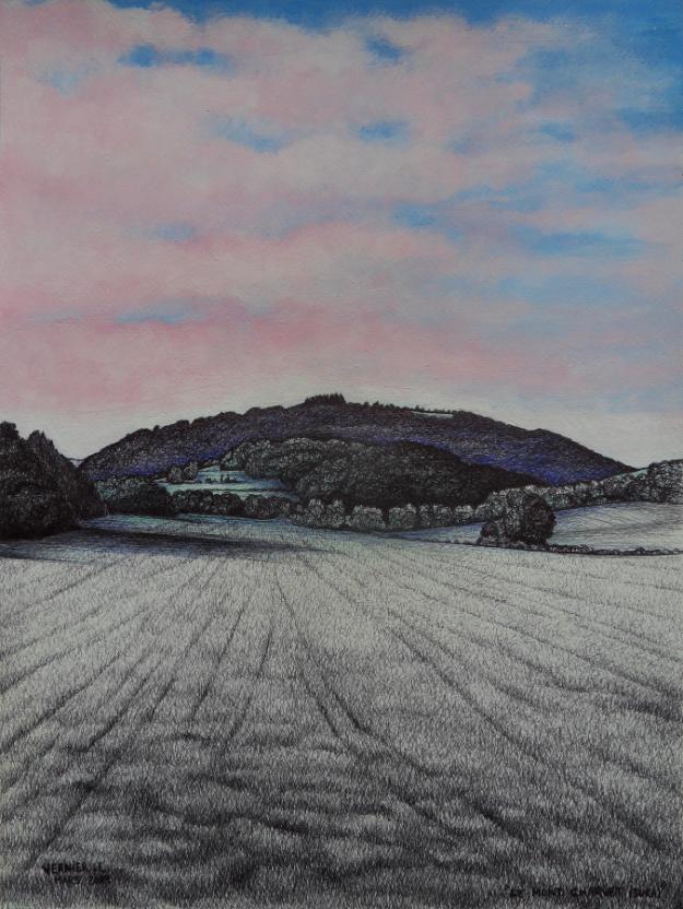 Le Mont Charvet (Jura) 41 x 31 cm 2019 Laurent Vernier