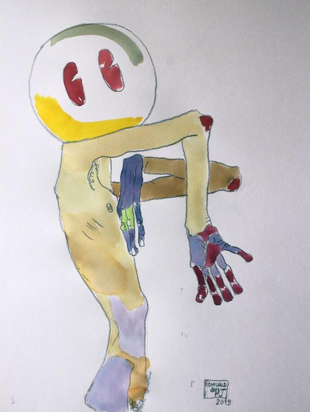 SchieleBidule par Romuald&Pj 30X40