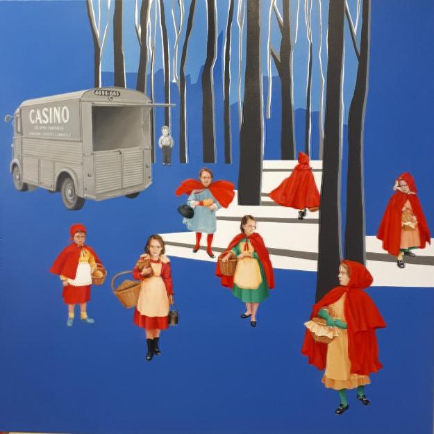 Ballet pour Charles Perrault -acrylique sur toile 100x100