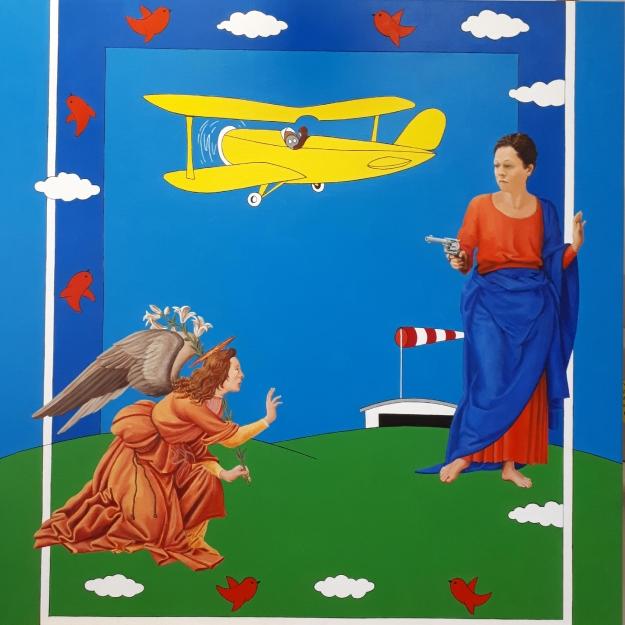 L'Annonciation Me too - acrylique sur toile 100x100